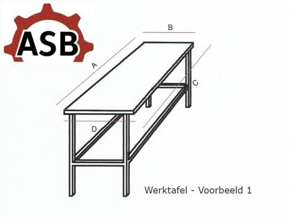 Afbeeldingen van Werktafel RVS - Voorbeeld 1