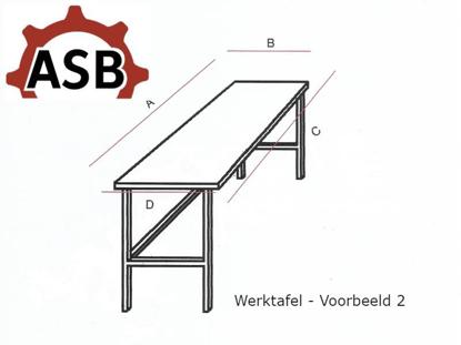 Afbeeldingen van Werktafel RVS - Voorbeeld 2