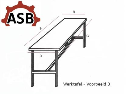 Afbeeldingen van Werktafel RVS - Voorbeeld 3