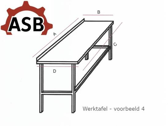 Afbeeldingen van Werktafel RVS - Voorbeeld 4