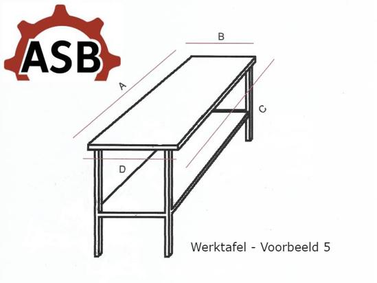 Afbeeldingen van Werktafel RVS - Voorbeeld 5