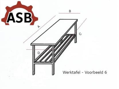 Afbeeldingen van Werktafel RVS - Voorbeeld 6