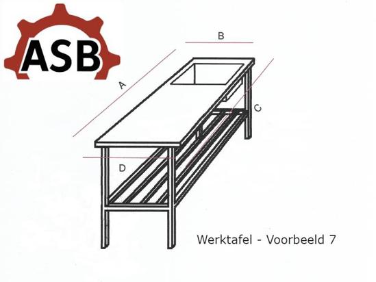 Afbeeldingen van Werktafel RVS - Voorbeeld 7