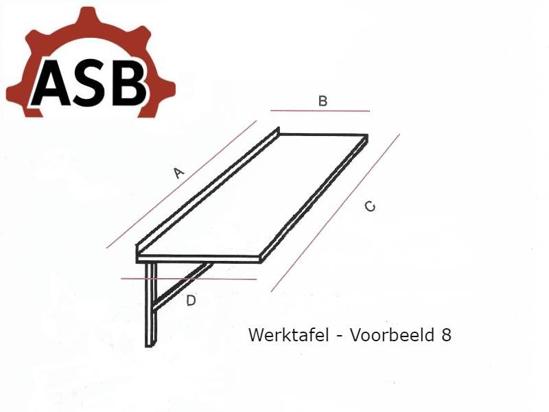 Afbeeldingen van Werktafel RVS - Voorbeeld 8